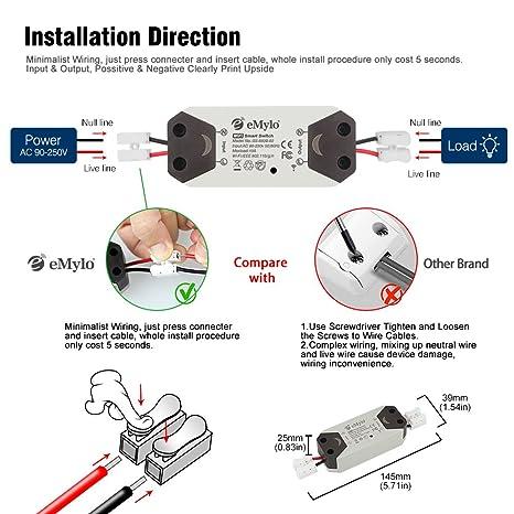 eMylo Smart Wireless Wifi Remote Controlled Switch Wifi Light Switch ...