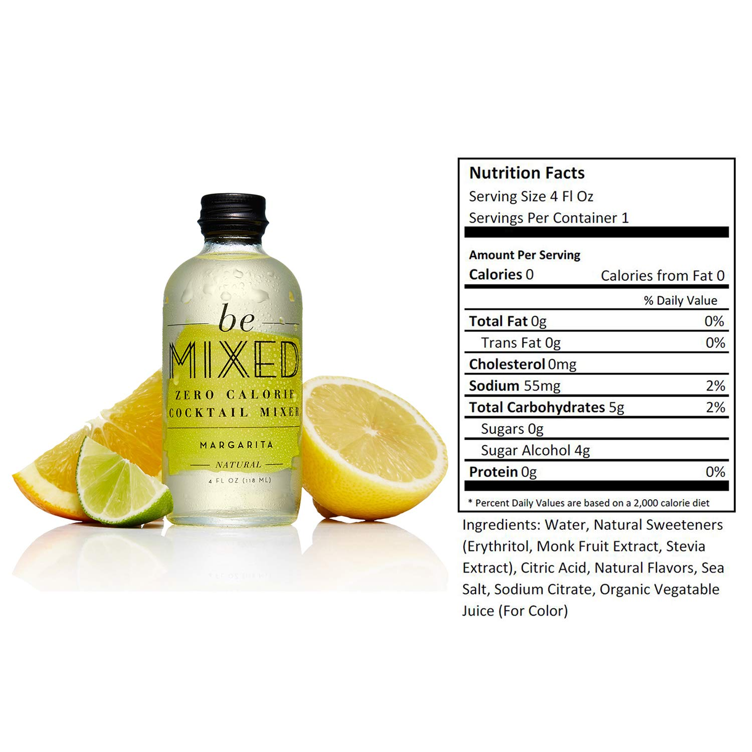 Zero Calorie Margarita Cocktail Mixer by Be Mixed | Low Carb, Keto Friendly, Sugar Free and Gluten Free Drink Mix | 4 oz Glass Bottles, 12 Count by Be Mixed (Image #2)