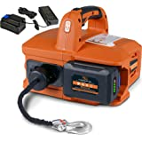 SuperHandy Electric Portable Winch Hoist 1000Lbs/455Kgs Max Weight 20' Feet/6m Polyethylene Cable w/Locking Knob Brushless Mo