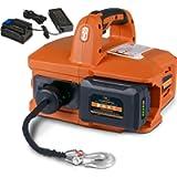 SuperHandy Electric Portable Winch Hoist 1000Lbs/455Kgs Max Weight 20' Feet/6m Polyethylene Cable w/Locking Knob…