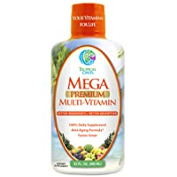 Mega Premium Liquid Multivitamin | Natural Immune Support & Anti-Aging Multi-Vitamin...