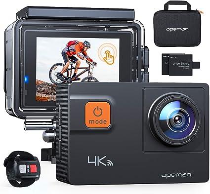 Apeman Action Cam A80 4 K 20 Mp Wifi Wasserdicht 40 Kamera