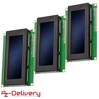 AZDelivery HD44780 2004 Pantalla LCD 4x20 caracteres Azul con ...