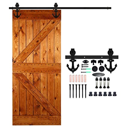 CCJH 16FT-488cm Herraje para Puertas Kit de Accesorios para Puerta Correderas Juego de Armarios