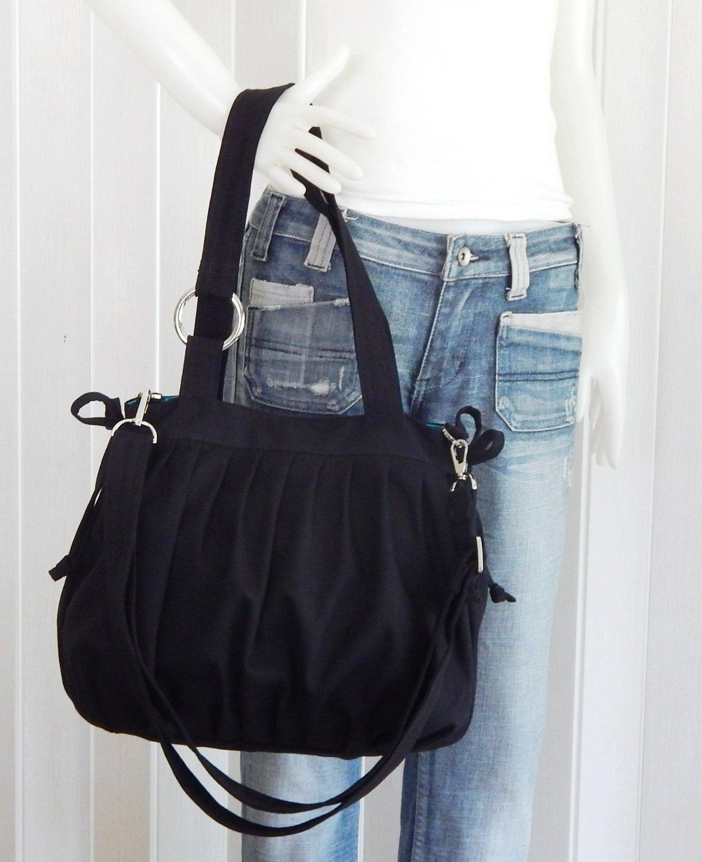 Virine canvas pleats purse, bag, tote, shoulder bag, everyday bag, travel bag, cross body, women