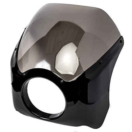 Krator Black & Smoke Headlight Fairing Windshield Kit for Suzuki Boulevard  M109R M50 M90 M95