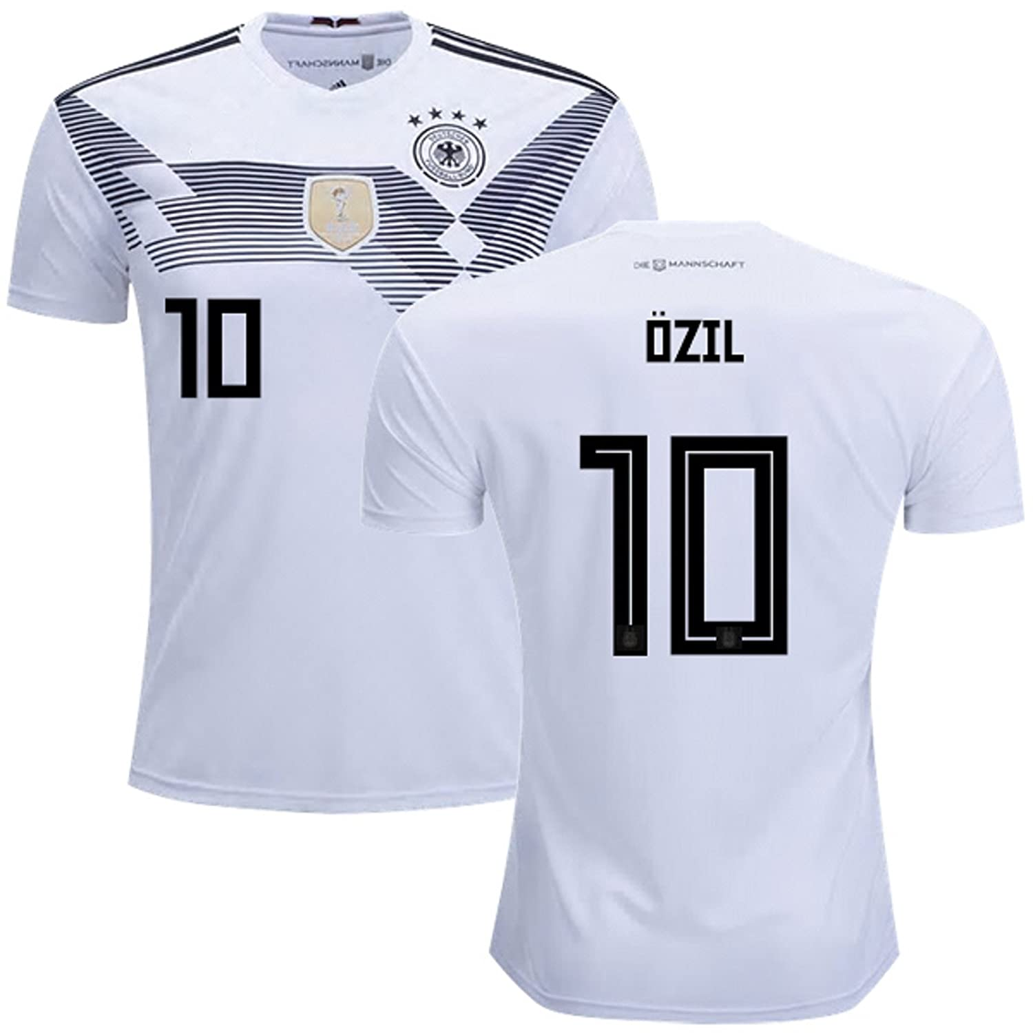 watch 06f16 5bff8 Ozil #10 Germany Soccer Jersey Youth World Cup Home Short Sleeve with  Shorts Kit Kids Soccer Set
