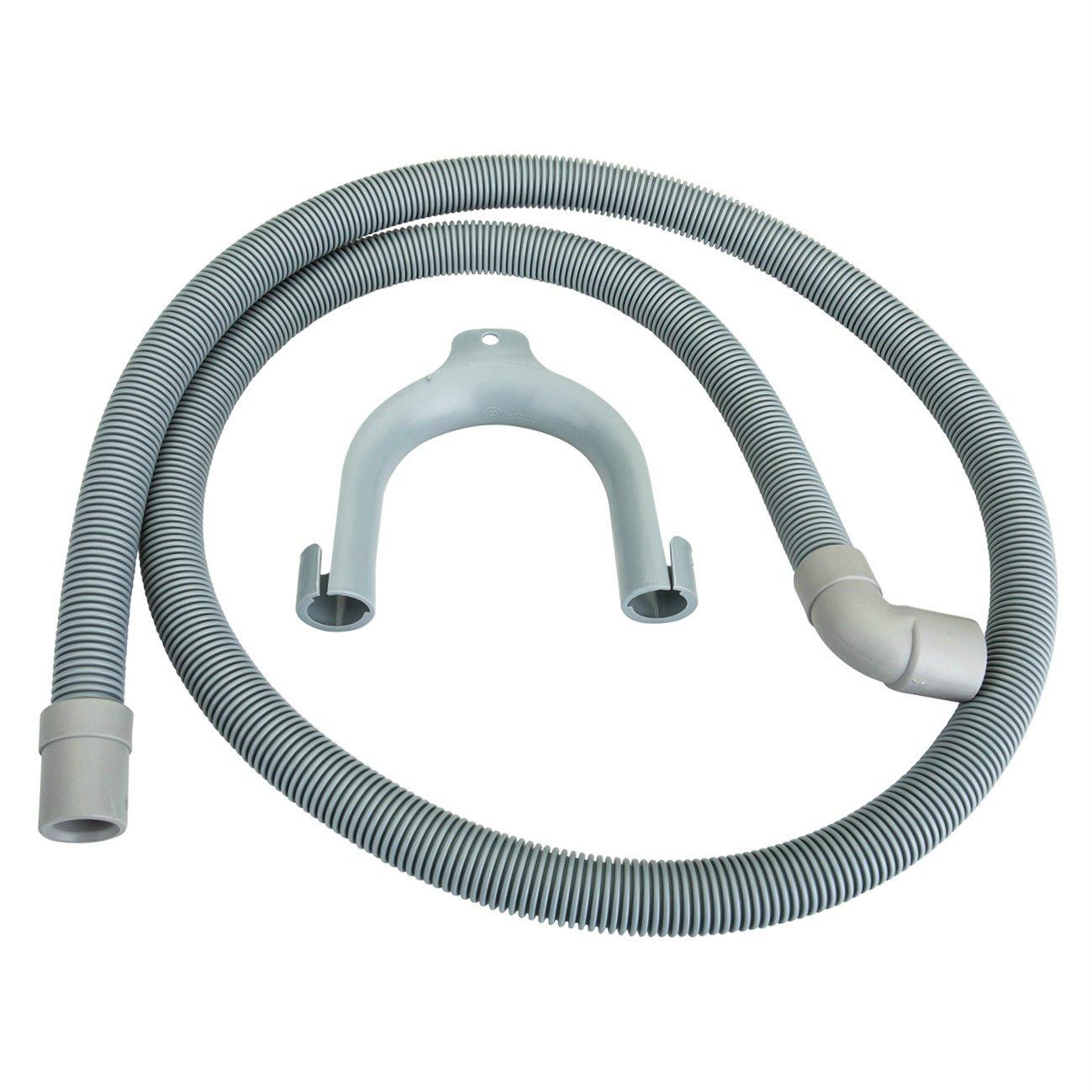 First4Spares Universal Replacement Washing Machine Waste Water Drain Hose (1.6M 19/22MM 90DEG) Qualtex