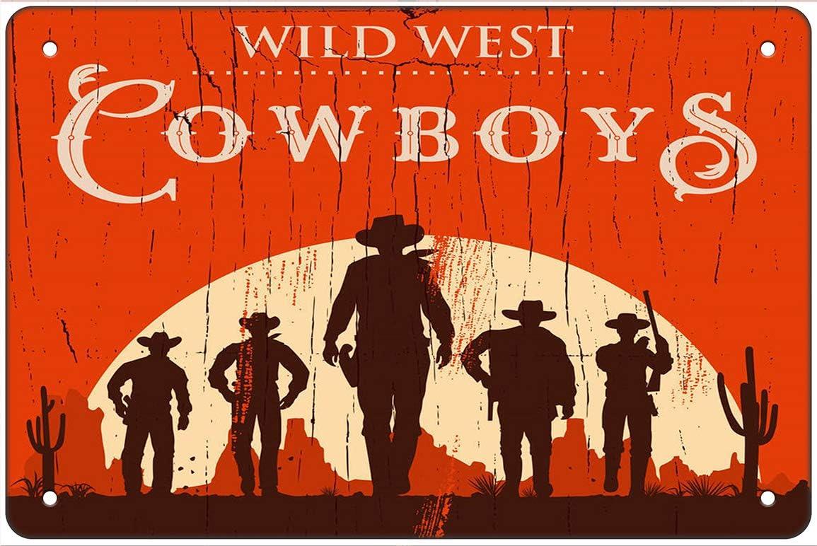 Cowboy Vintage Metal Tin Signs Retro Plate Pub Bar Art Wall Decor Poster