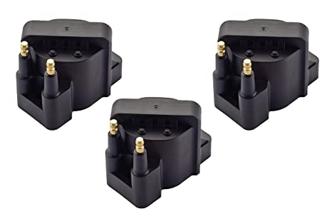 Pack of 3 Ignition Coil Pack for Buick Cadillac Chevrolet Oldsmobile  Pontiac Compatible with L4 V6 C849 DR39 5C1058 E530C D555