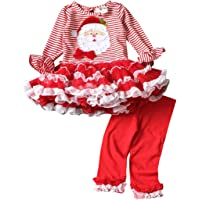 eKoooBee Infant Baby Girls Christmas Dress Pant Set Outfit Xmas