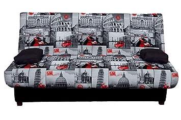 MUEBLES MATO - Sofa Cama Roma Negro