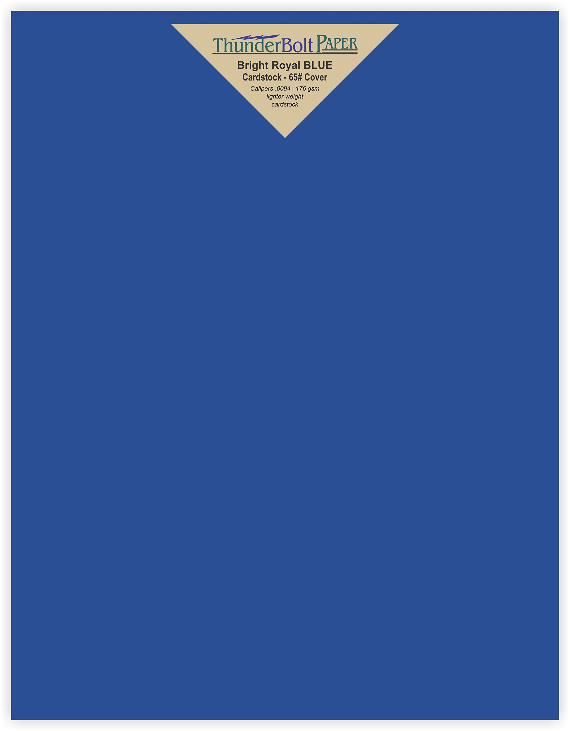 50 Bright Royal Blue 65# Cardstock Paper 8.5'' X 11'' (8.5X11 Inches) Standard Letter|Flyer Size - 65Cover/45Bond Light Weight Card Stock - Bright Printable Smooth Paper Surface