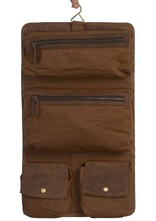 690af02ae8 Amazon.com  KOMALC Genuine Buffalo Leather Hanging Toiletry Bag Travel Dopp  Kit  Komal s Passion Leather