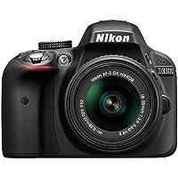 Nikon D3300 Digital SLR Camera (24.2 MP, 3 inch LCD) - Black (Renewed)
