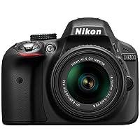 Nikon D3300 Digital SLR Camera (24.2 MP, 3 inch LCD) - Black (Certified Refurbished)