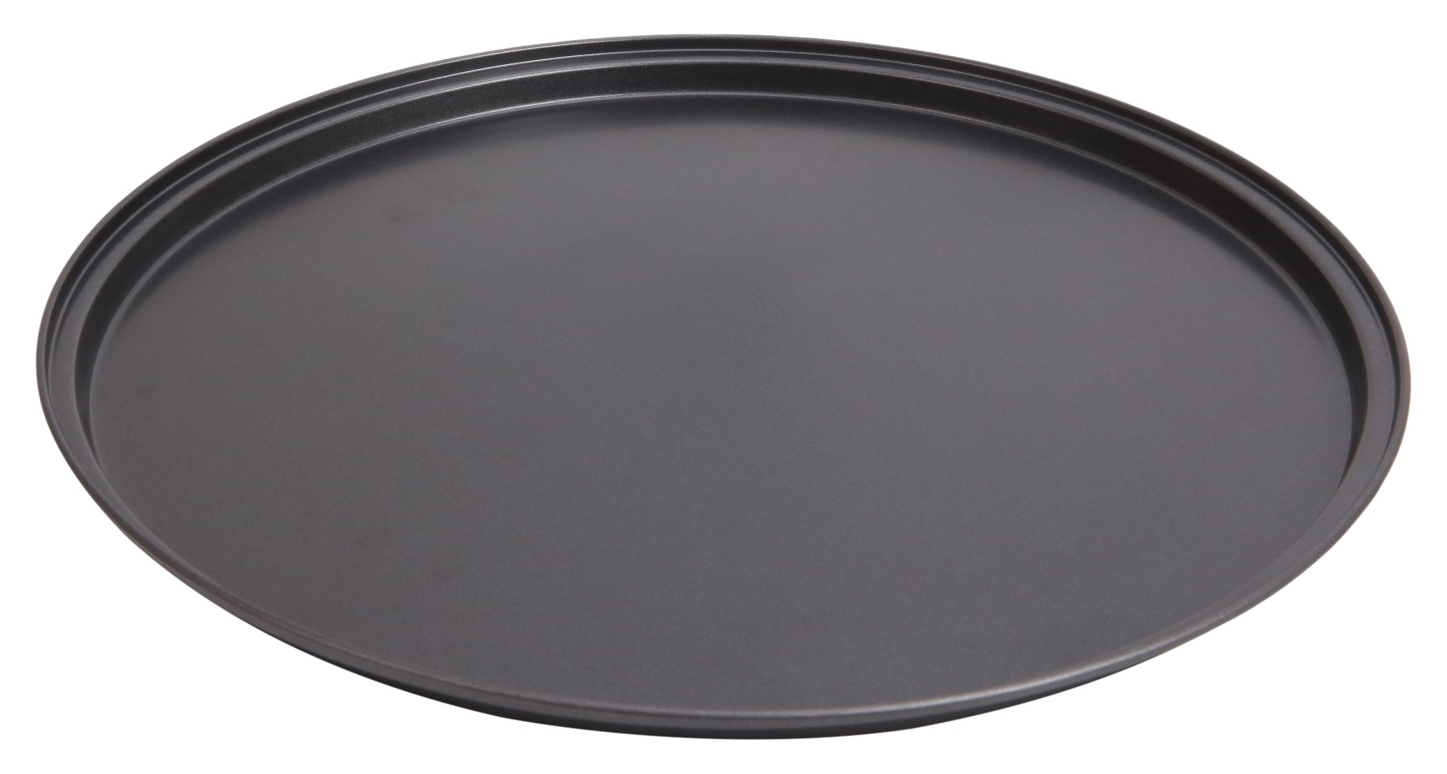 Wee's Beyond 6852-C Non-Stick Easy Release Pizza Pan 13.5'', Dark Gray