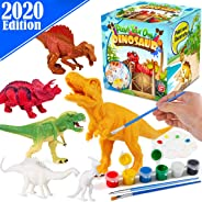 FunzBo Kids Crafts and Arts Set Painting Kit - Dinosaurs Toys Art and Craft Supplies Party Favors for Boys Girls Age 4 5 6 7