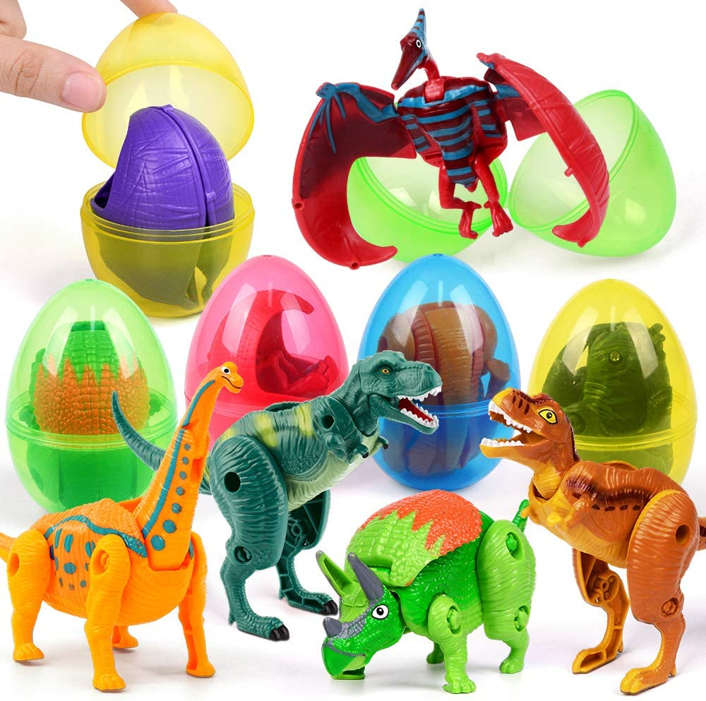 12 Pack Jumbo Easter Eggs Prefilled Surprise Toys Deformable Unicorn Toys Easter Basket Stuffers Unicorn Gifts for Girls Easter Party Favors Supplies