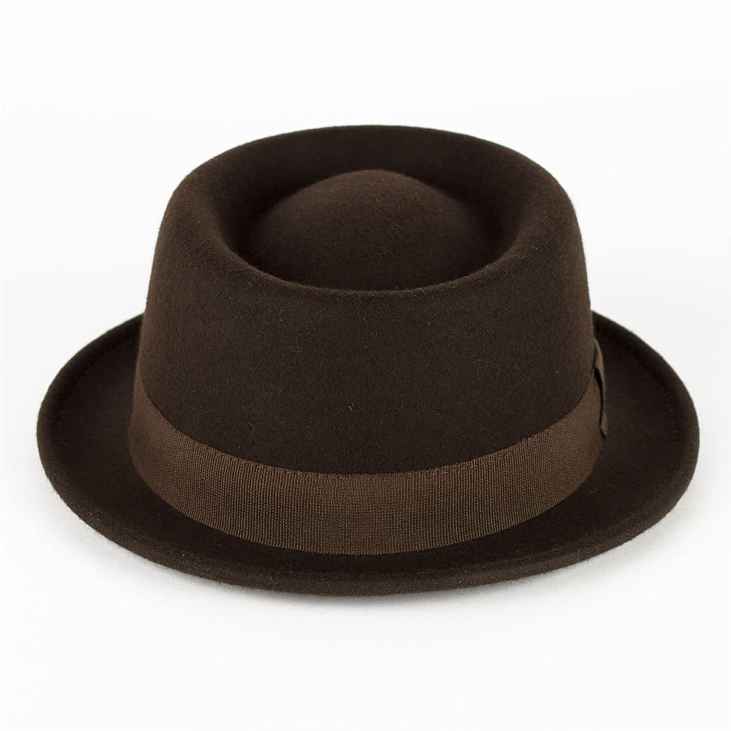 9036fa5a Wool Pork Pie Hat Waterproof & Crushable Handmade in Italy: Amazon.co.uk:  Clothing