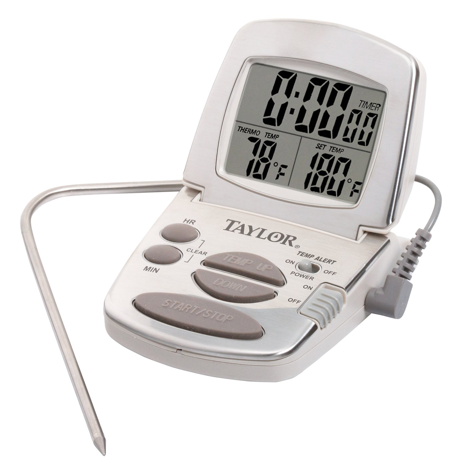 Taylor Precision Products Digital Cooking Thermometer with Probe and Timer Taylor Thermometers 1478-21