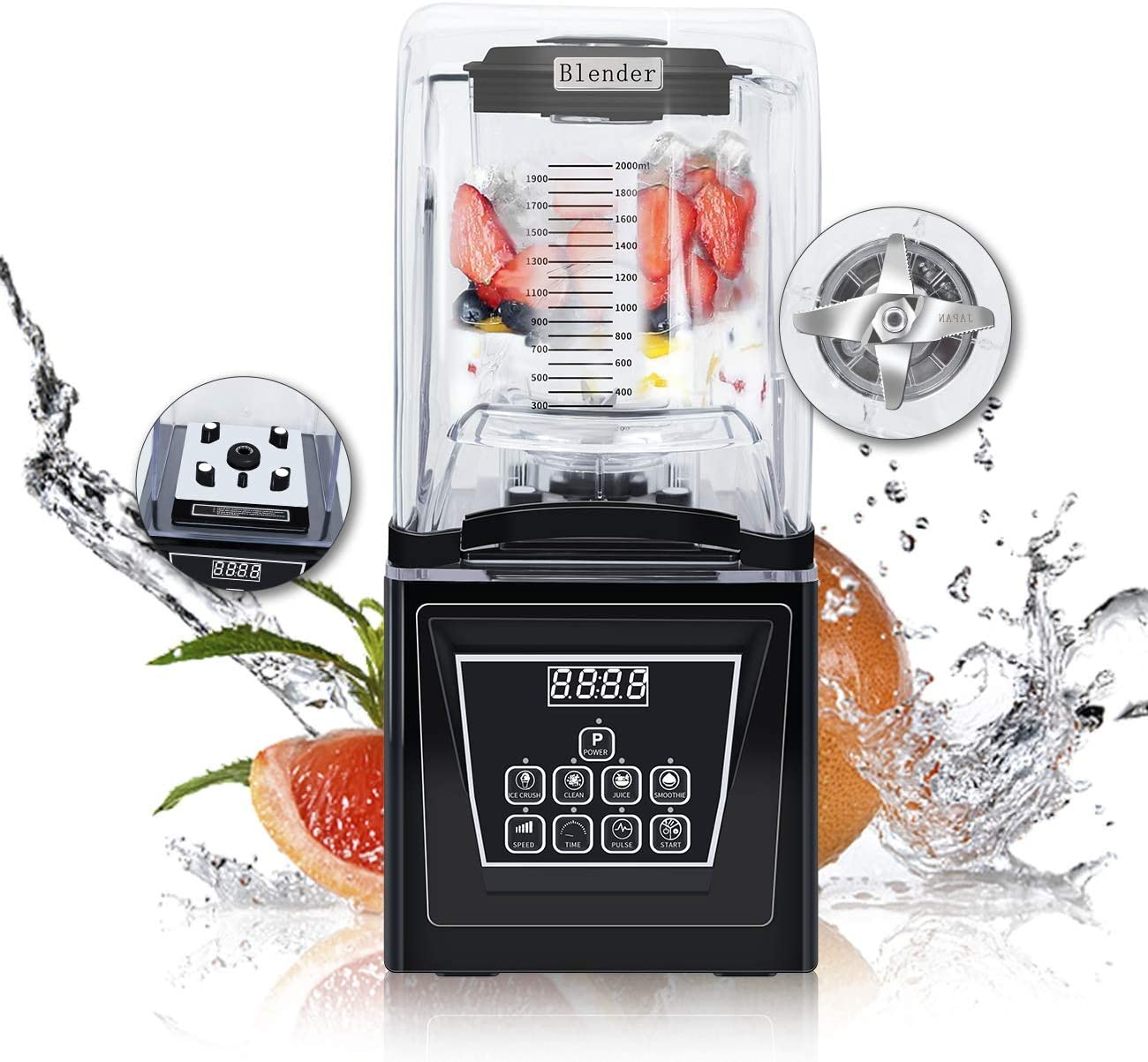 Wantjoin Commercial and home Professional Quiet Shield Blender