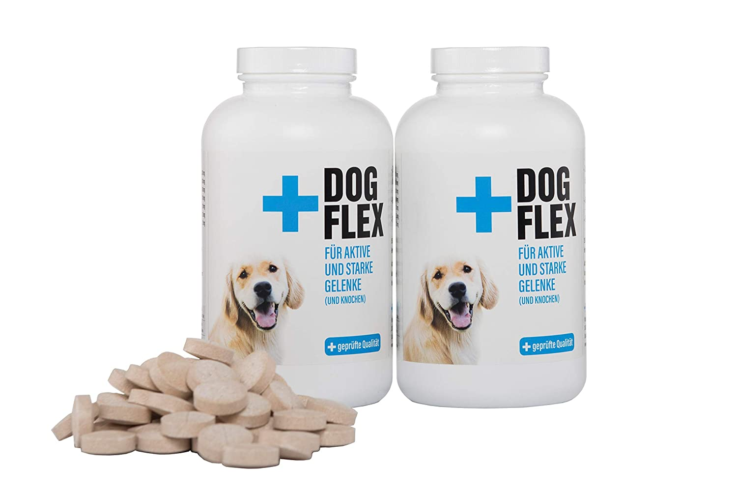 2 x 150 Tabl. Flex Dog Green-lipped Mussel Powder Dog Supplement, Osteoarthritis, Glucosamine, Chondroitin, MSM, Devil's Claw High Dosage 150 Tablets