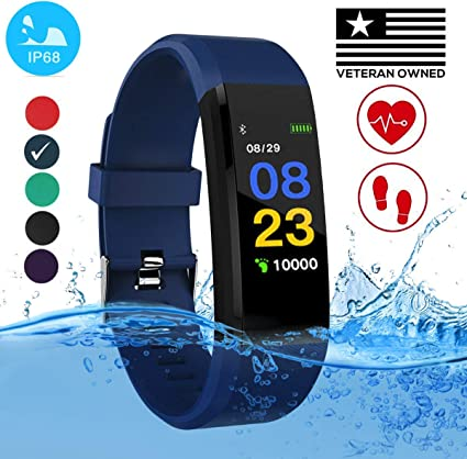 Burn-Rate Fitness Tracker Heart Rate Monitor - Smart Watches for Women Men Color Smart Watch Fit Bracelet Reloj Inteligente Band Pedometer, ...