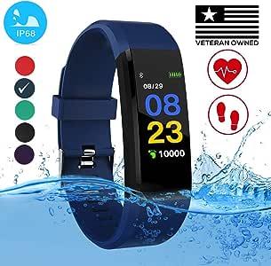 Burn-Rate Fitness Tracker Heart Rate Monitor - Smart Watches for Women Men Color Smart Watch Fit Bracelet Reloj Inteligente Band Pedometer, ...