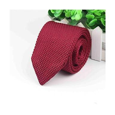Corbata de color sólido sólido para hombre Corbatas de punto ...