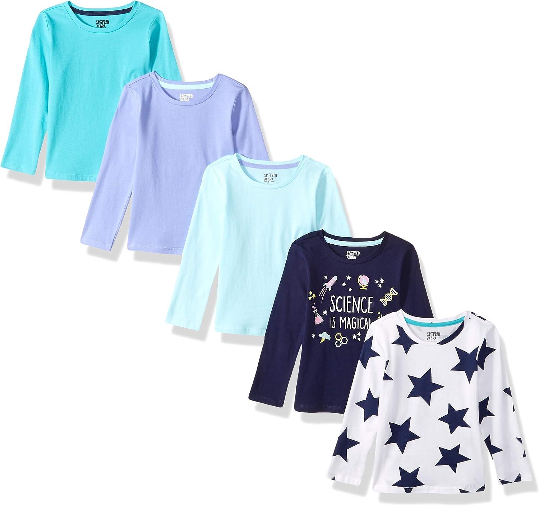 Pacco da 5 Marchio Spotted Zebra 5-Pack Long-Sleeve T-Shirts Bambina