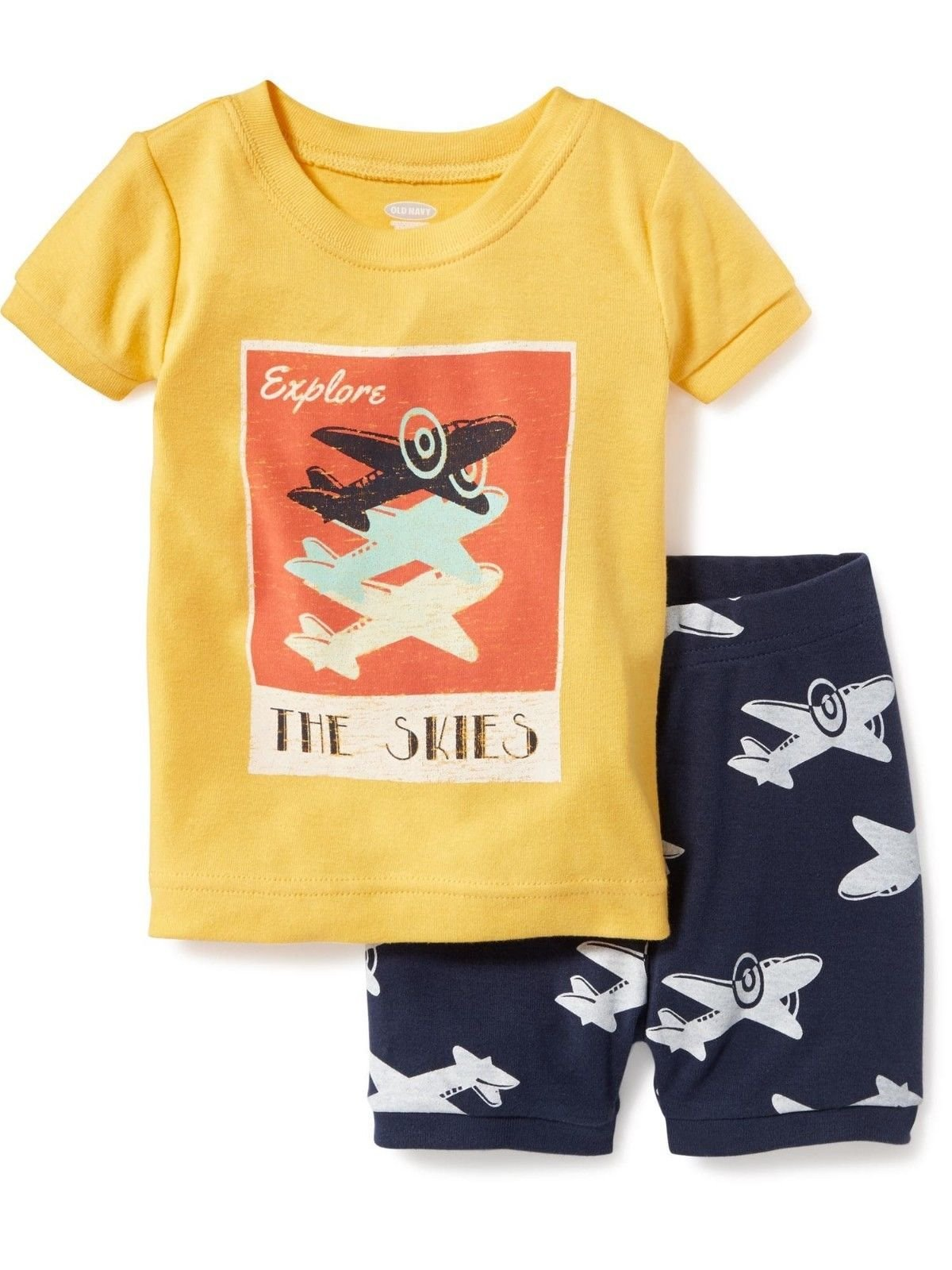 Toddler Boy's 5T Airplane Explore The Skies Pajama Shorts Set