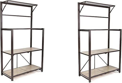 Origami 3-Tier Folding Storage Shelves - 2-pack In Black | Heavy ... | 355x519