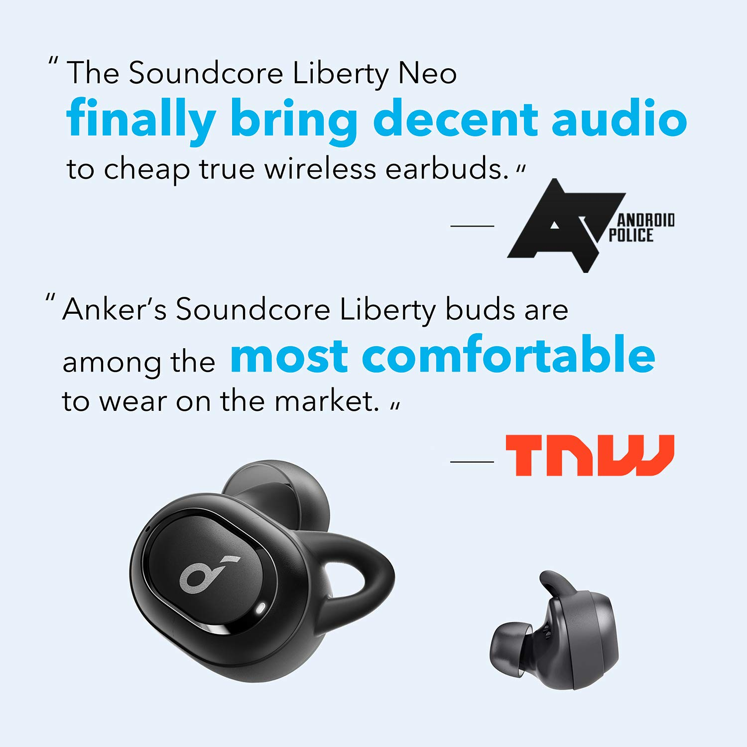 Anker Soundcore Liberty Neo, Bluetooth Earbuds, Premium Sound with Pumping Bass, Secure Fit, Bluetooth 5.0 Headphones, Stereo Calls, Noise Canceling, Easy Pairing, Sweatproof for Sports, Work Out, Gym by Soundcore (Image #2)