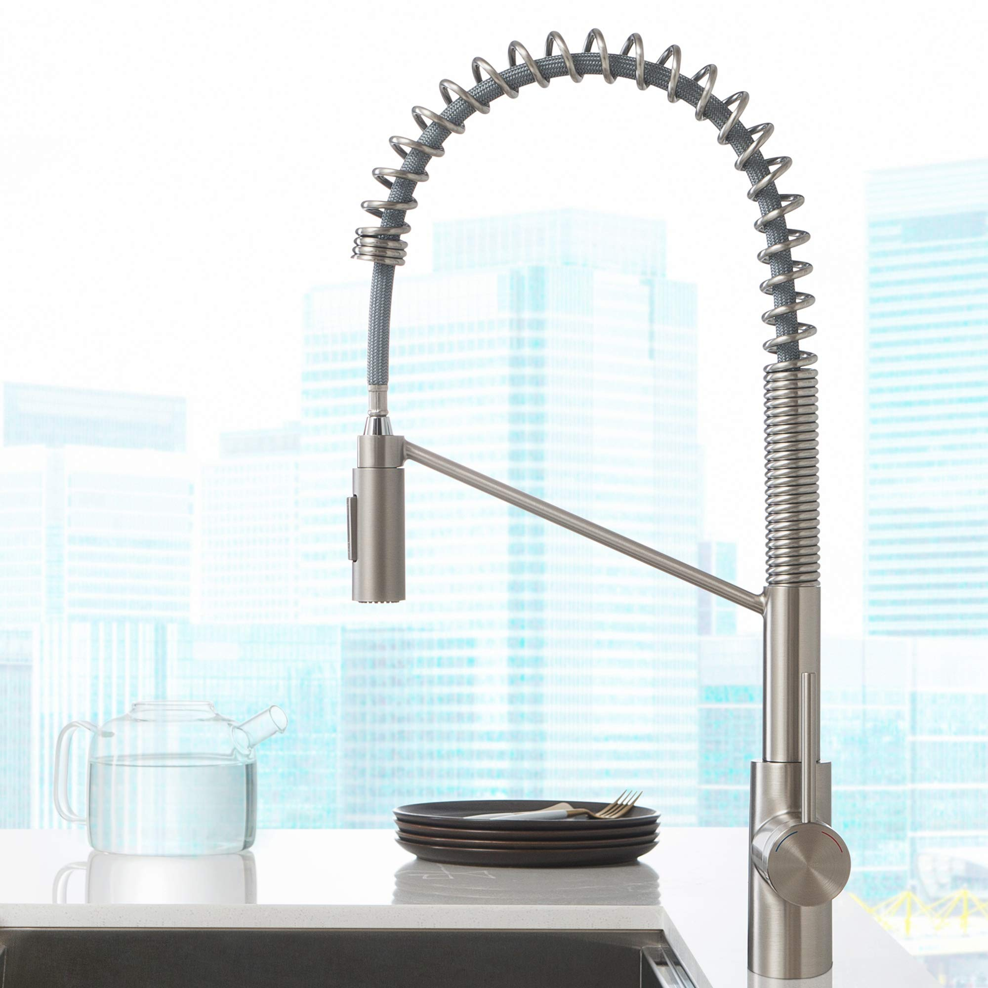 Kraus KPF-2631SFS Oletto Kitchen Faucet, 21.75 inch, Spot Free Stainless Steel by Kraus (Image #14)