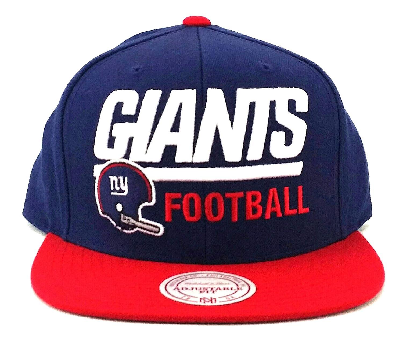 27a9d84838f Amazon.com   Mitchell   Ness New York Giants New Retro Blocker Blue Red Era Snapback  Hat Cap   Sports   Outdoors