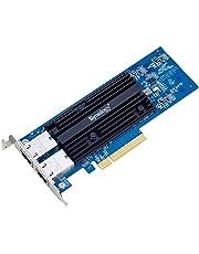 Synology E10G18-T2 Adaptador y Tarjeta de Red Interno Ethernet 10000 Mbit/s - Accesorio de Red (Interno, Alámbrico, PCI-E, Ethernet, 10000 Mbit/s, Negro, Azul)
