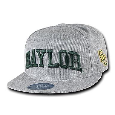 University of Baylor Bears NCAA Heather Gray Fitted Flat Bill Baseball Cap  Hat (6 7 56ff3069754