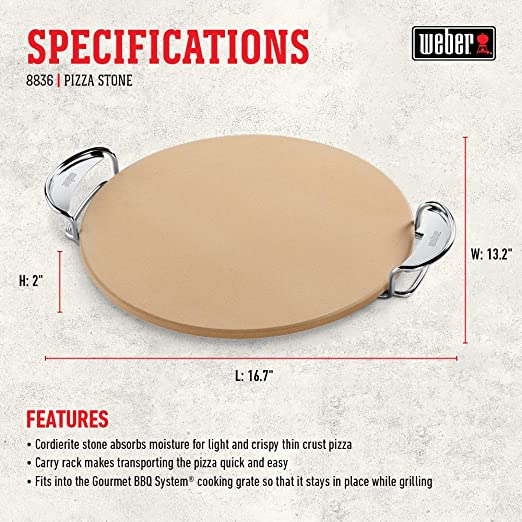 Weber Gourmet Bbq System Pizza Stone