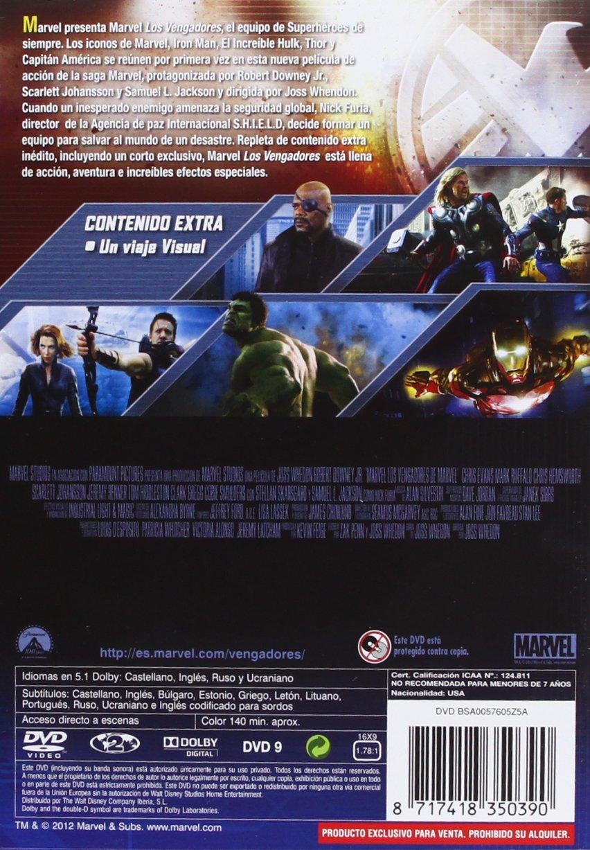 Amazon.com: Los Vengadores (Import Movie) (European Format - Zone 2) (2012) Robert Downey Jr; Chris Evans; Mark Ruffalo: Movies & TV