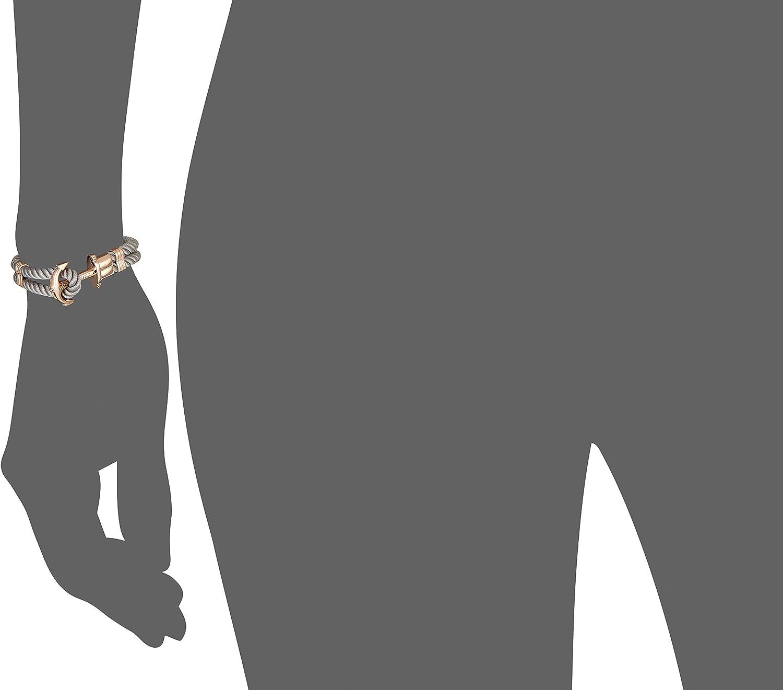Bracelet Femme Style Cordage avec Fermoir Ancre en INOX plaqu/é Or Or Rose PAUL HEWITT Bracelet Femme PHREP Ancre Cadeau Femme