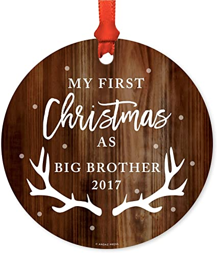 Large 8 x 8 Personalised Handmade First Christmas Card Blue 2017
