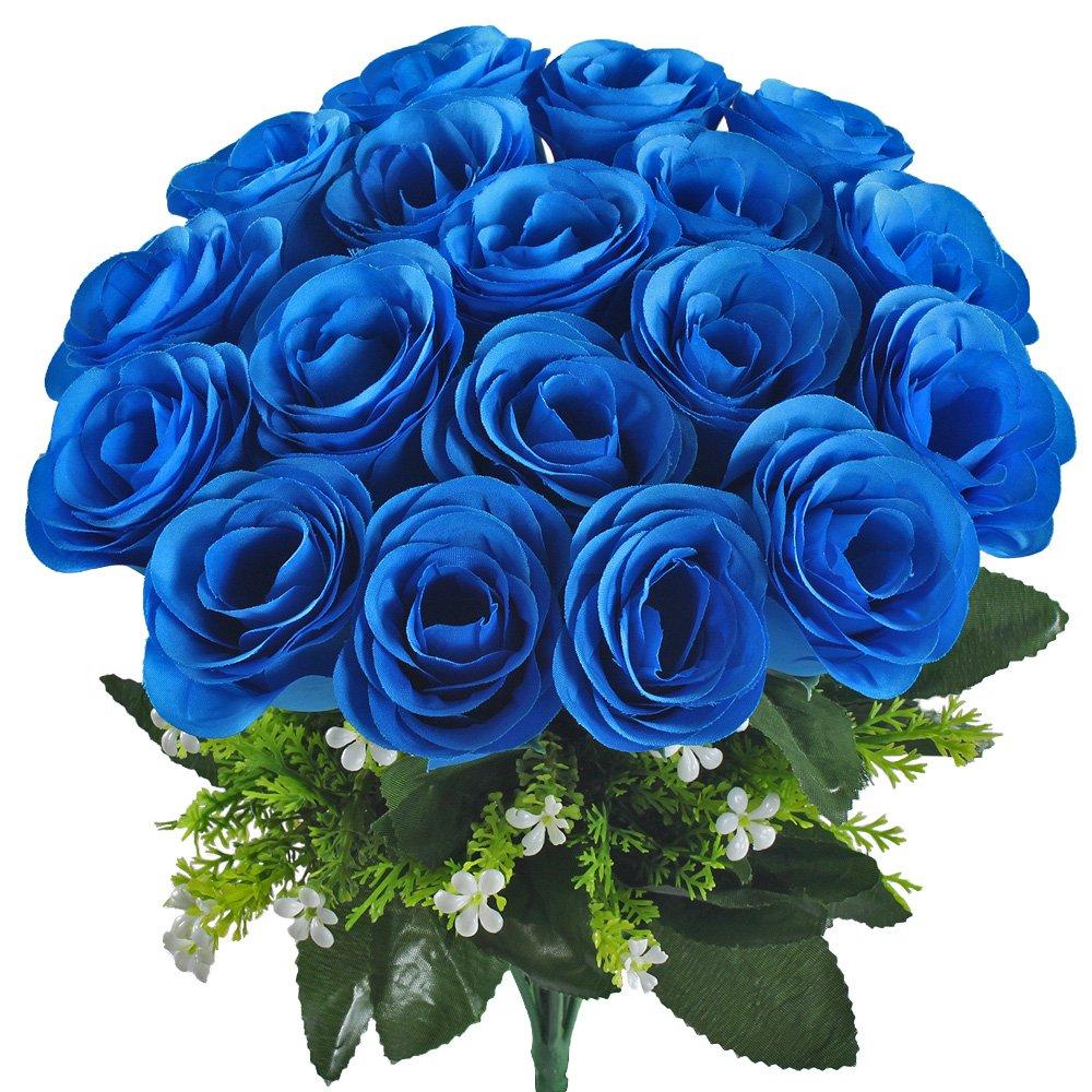 Amazon Gtidea Artificial Flower Bouquet 18 Heads Silk Roses
