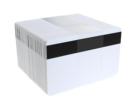 Tarjetas de PVC en blanco de alta calidad con rayas de alta calidad, 760 micras, CR80 (tamaño de tarjeta de crédito), 100 unidades