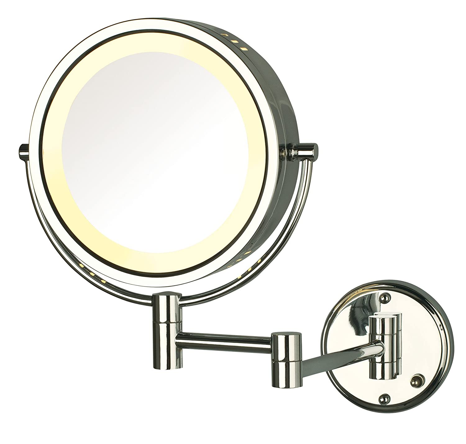 Amazon.com : Jerdon HL75CD 8.5-Inch Lighted Direct Wire Wall Mount Makeup  Mirror with 8x Magnification, Chrome Finish : Personal Makeup Mirrors :  BeautyAmazon.com
