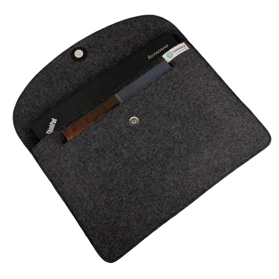 Mojopanda Virgin Organic Wool Felt 13-13.5 Inch Macbooks, Laptop Grey Sleeve Case Carrying Bag With 2 Back Pouches For Mobile Phones And An Inner Packet For Tab, Ipad Or Power Chord. by MOJO PANDA (Image #1)