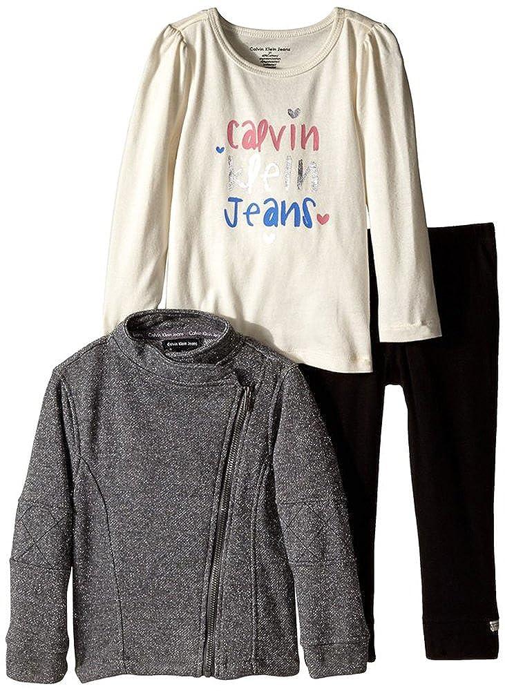 Calvin Klein SHIRT ベビーガールズ 12 Months グレー B00VIN1RDW