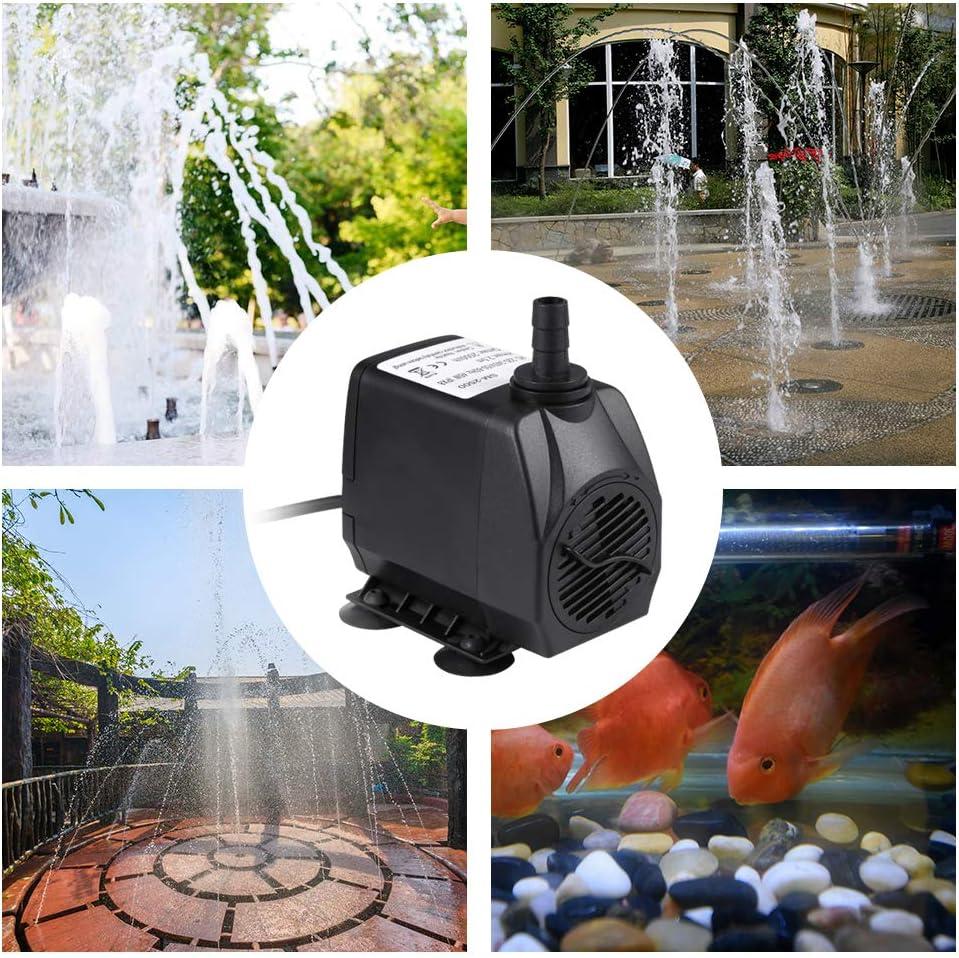 ACAMPTAR R Kunststoff Garten Teich Fisch Tank Aquarium Brunnen Duese Pumpe Wasserfall Kugel Kopf Schwarz