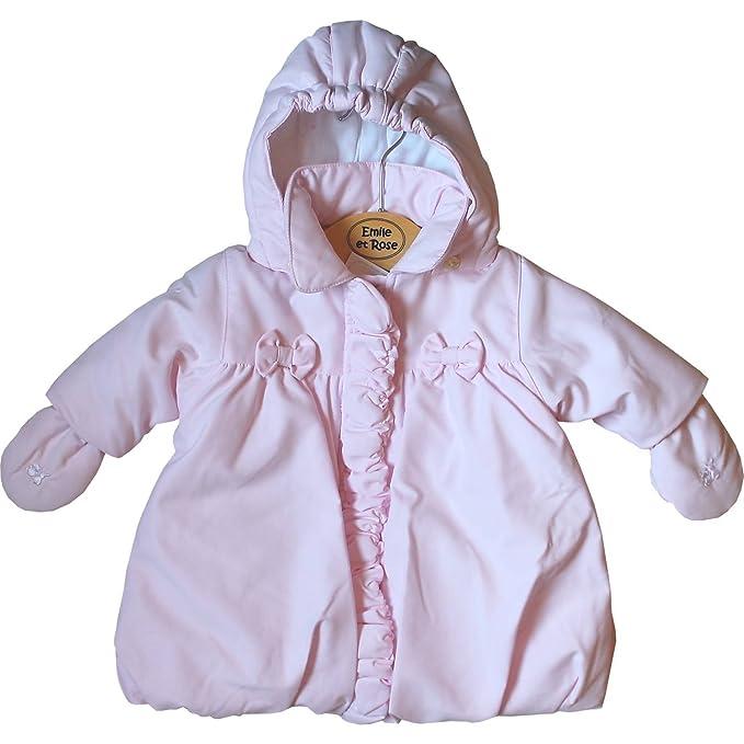 Emile et Rose - Abrigos - para bebé niña rosa 88 cm: Amazon.es: Ropa y accesorios