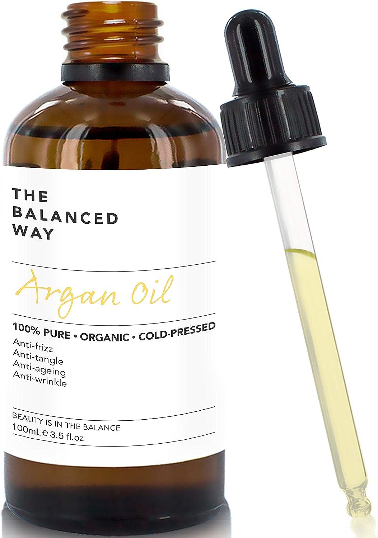 Puro aceite de argán 100% orgánico para pelo, piel, cuerpo y uñas - prensado en frío en Marruecos- hidratante anti envejecimiento / humectante antiarrugas (100ml)